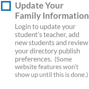 Update Family Information